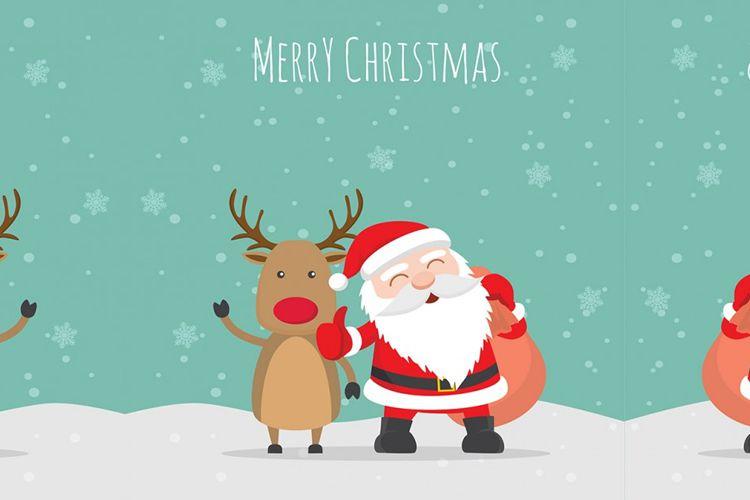 Feliz Navidad ilustración Vector vacaciones gratis
