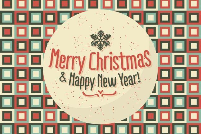 Feliz Navidad feliz año nuevo fondo ilustración vacaciones gratis