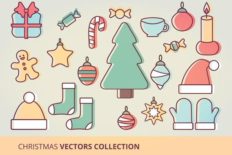 Christmas Icons Vector Set vacaciones gratis