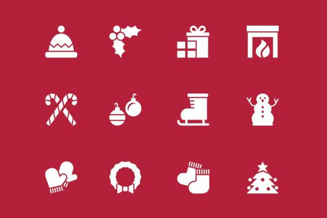 12 Vector Holiday Icons vacaciones gratis