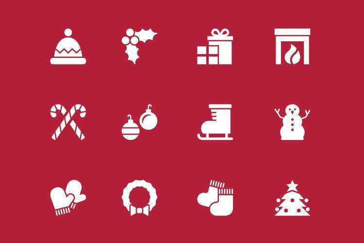 12 Vector Holiday Icons vacaciones gratis