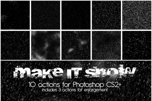 10 Make it Snow Actions vacaciones gratis