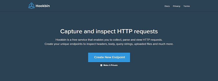 Hookbin web service collect parse view HTTP requests