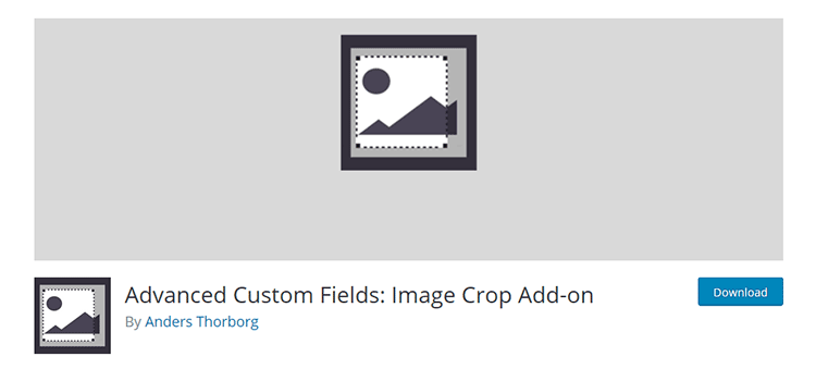 Advanced Custom Fields: Image Crop Add-on