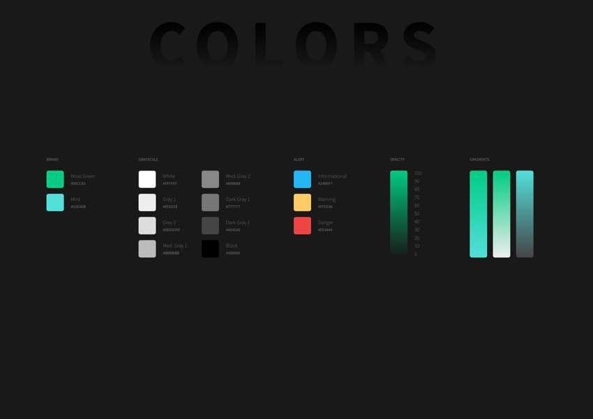 Free Dark Adobe XD Styleguide