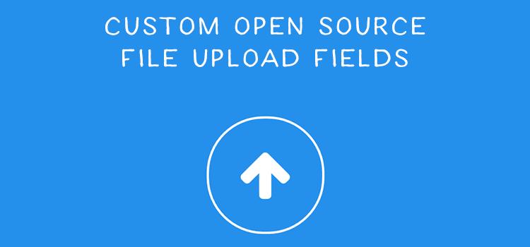 9 Custom Open Source File Upload Field Snippets