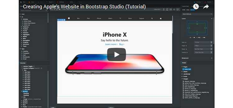 Creating Apple's Website with Bootstrap 4
