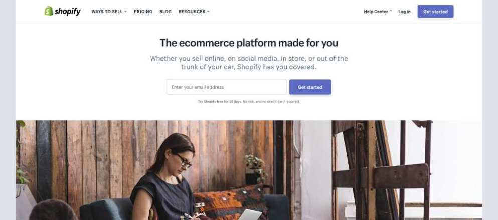 Shopify Homepage Negative Space Layout