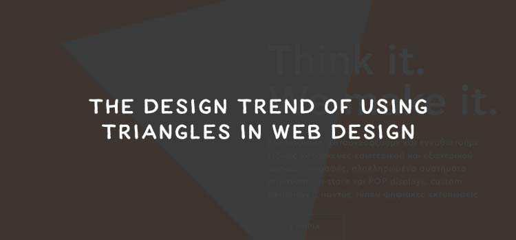The Design Trend of Using Triangles in Web Design