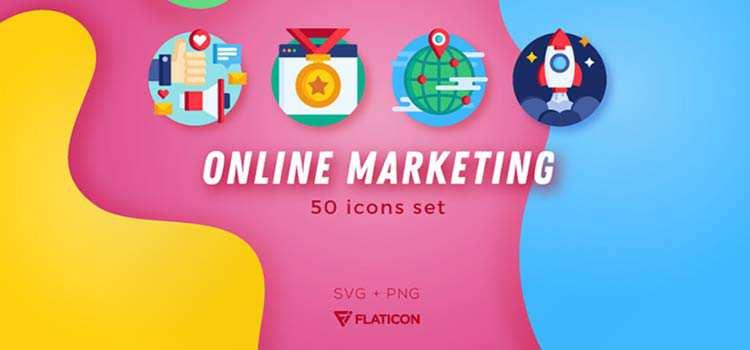 Free Online Marketing & SEO Icon Set