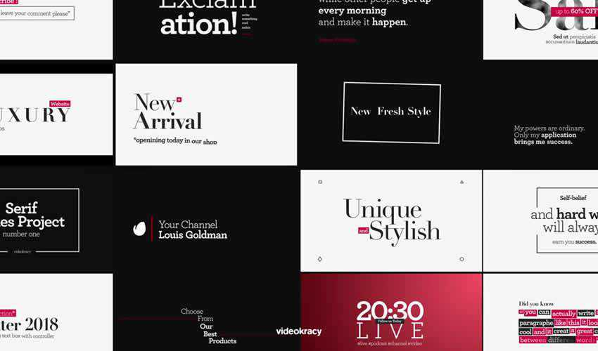 ae adobe after effects template motion design project files video movie titles typography type