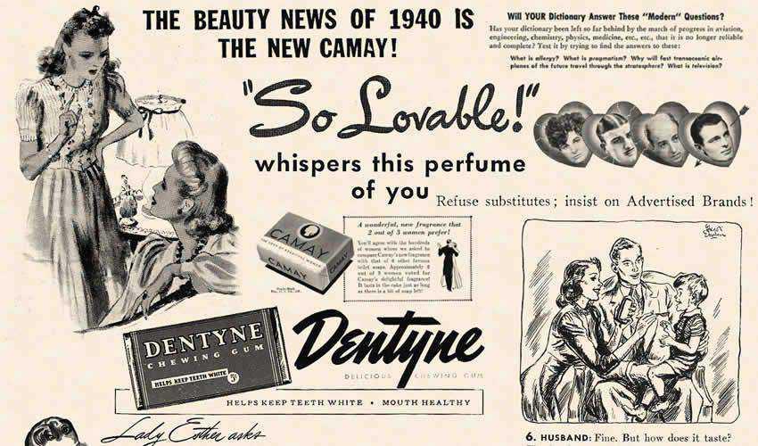 1940 Cosmopolitan vintage antique adobe photoshop ps brush brushes abr pack set free