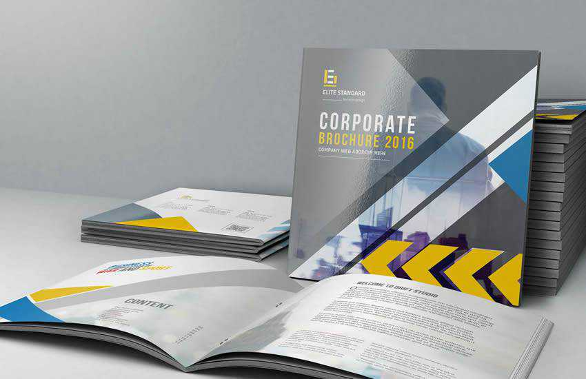 Square  brochure business template format