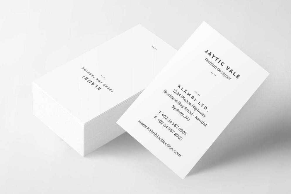 business card template format Adobe InDesign
