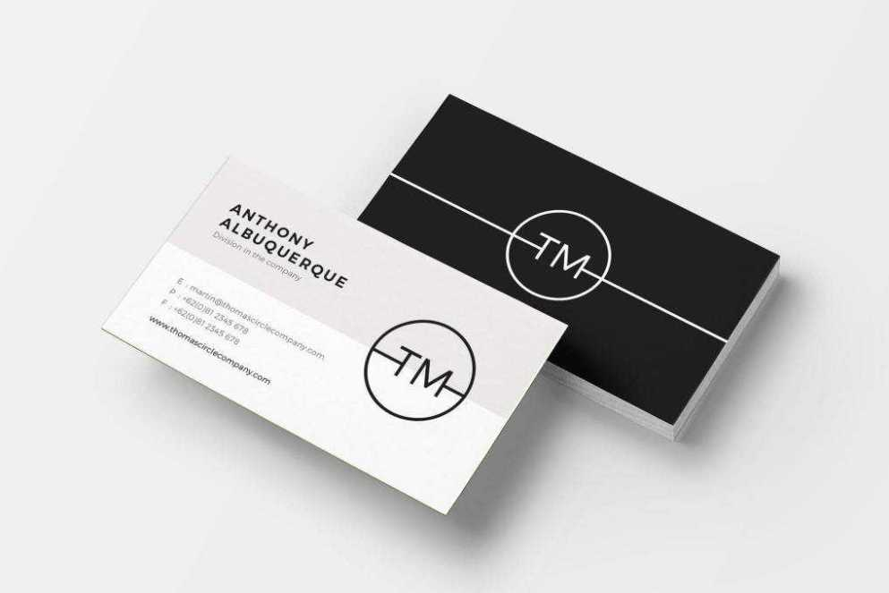 minimal business card template format Adobe InDesign