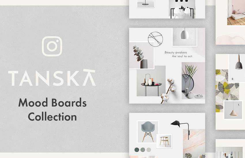 Tanska Free instagram social media template pack format Adobe Photoshop