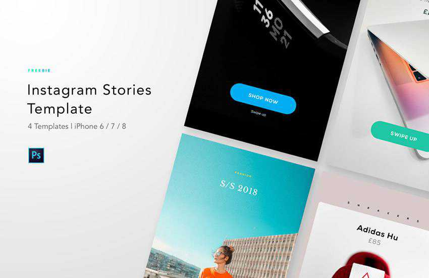 Story Templates instagram social media template pack format Adobe Photoshop