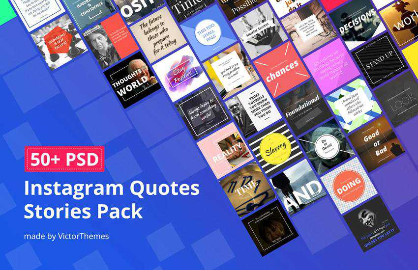 Glorious Instagram Quotes Stories instagram social media template pack format Adobe Photoshop