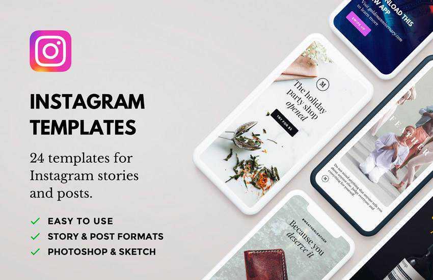 Lush Free PSD instagram social media template pack format Adobe Photoshop sketch app