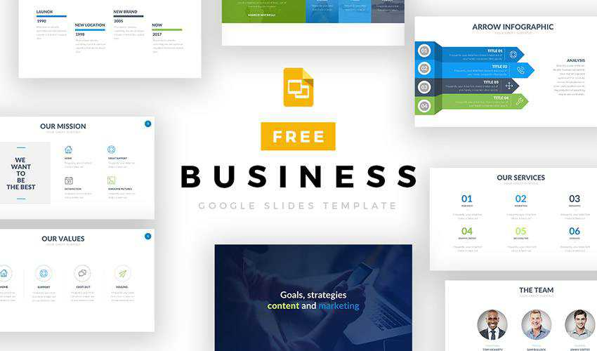 Business google slides theme presentation template free