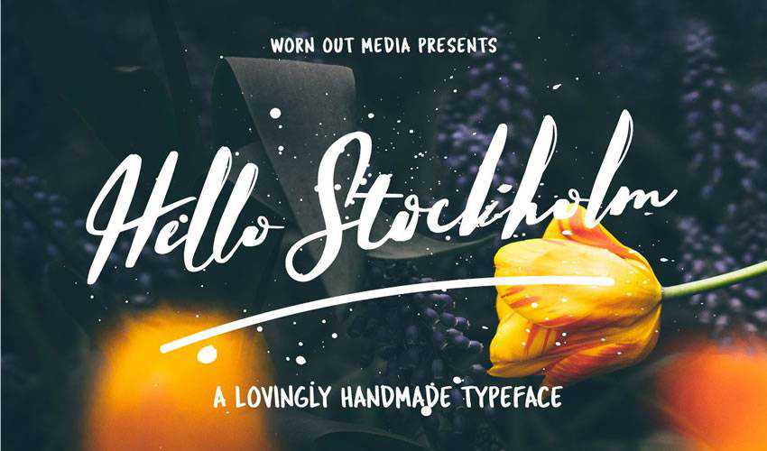 free font calligraphy typography script Hello Stockholm Typeface