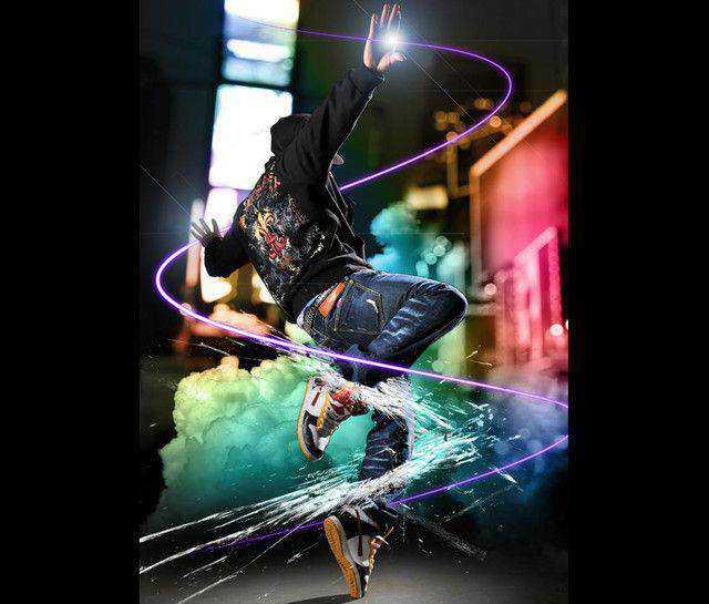 Dazzling Dance Photo Manipulation tutorial in Photoshop