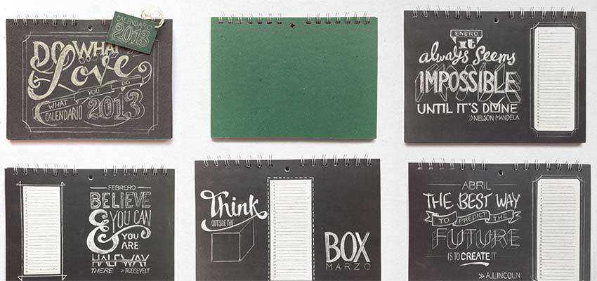 Chalkboard Lettering Stationery Set by Lisa Nemetz