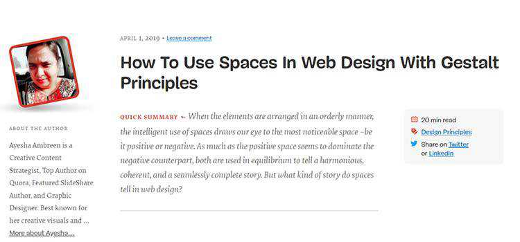 How To Use Spaces In Web Design With Gestalt Principles