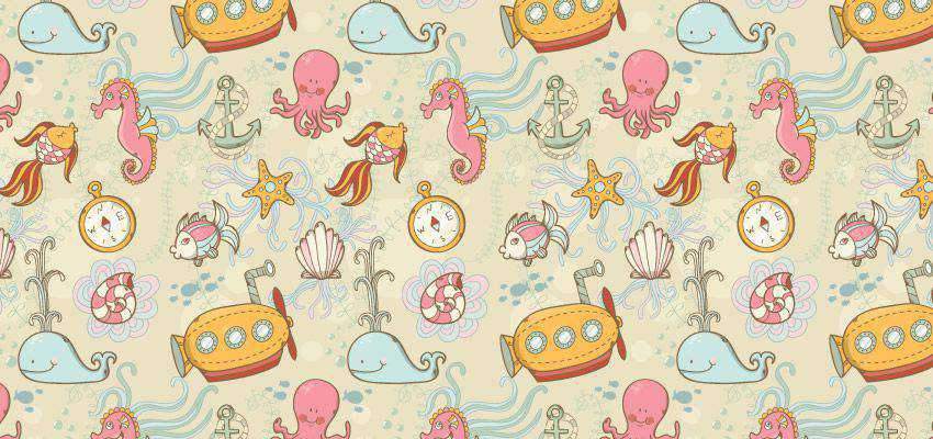 How to Create a Summer Underwater Seamless Pattern adobe illustrator tutorial