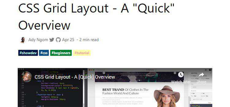 """CSS Grid Layout - A """"Quick"""" Overview"""