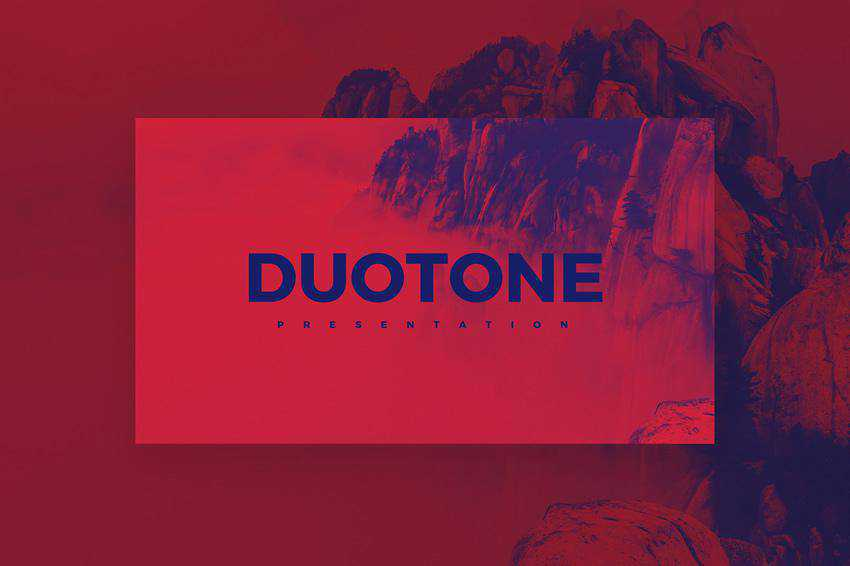 Free Duotone Powerpoint Template