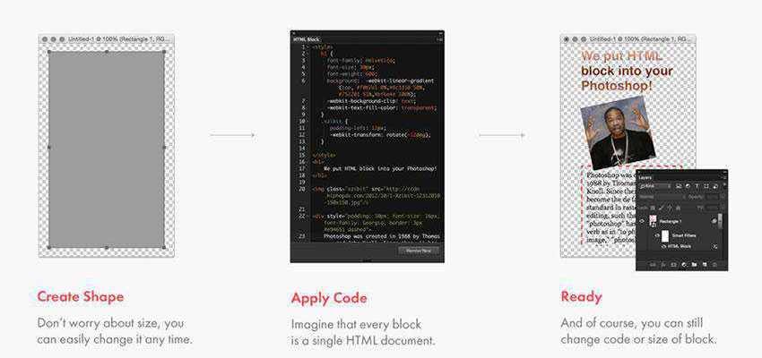 Photoshop HTML Block Plugin Extension