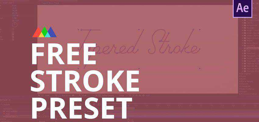 Tapered Stroke Preset for After Effects