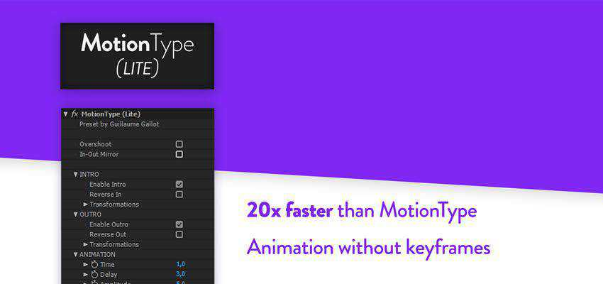 Motion Type Text Animation Preset