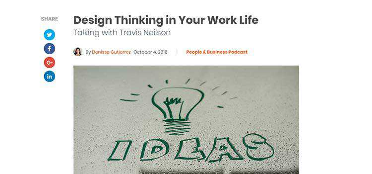 Design Thinking in Your Work Life