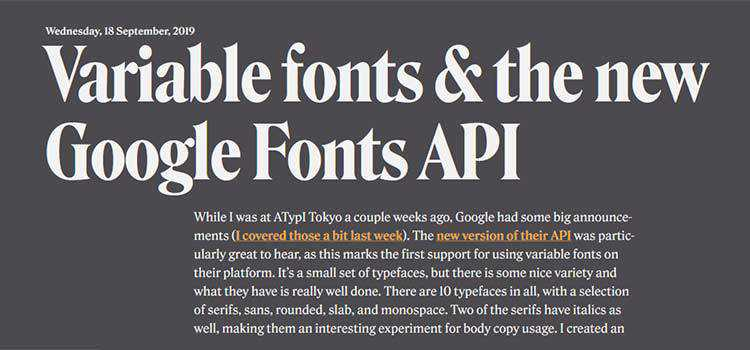 Variable fonts & the new Google Fonts API