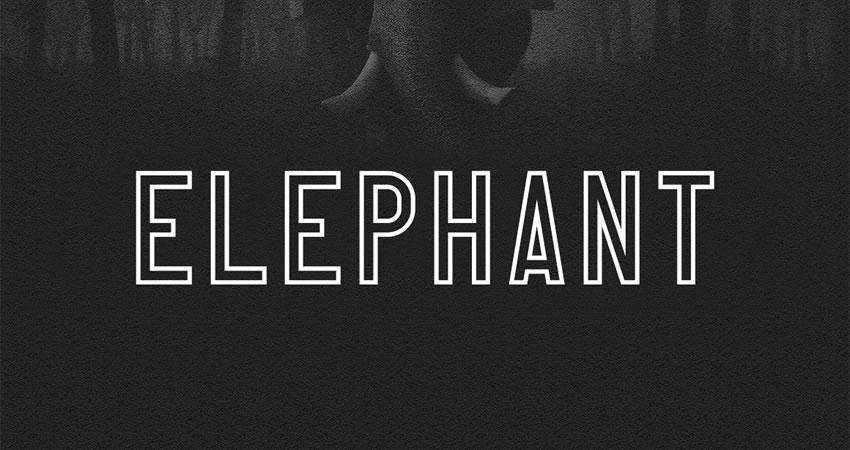 Elephant - free outline font family