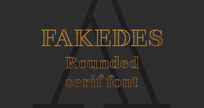 Fakedes - free outline font family