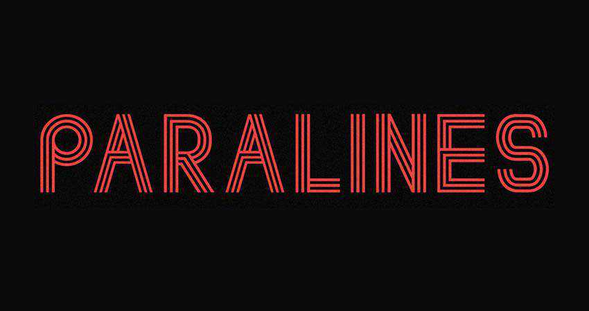 Paralines - free outline font family