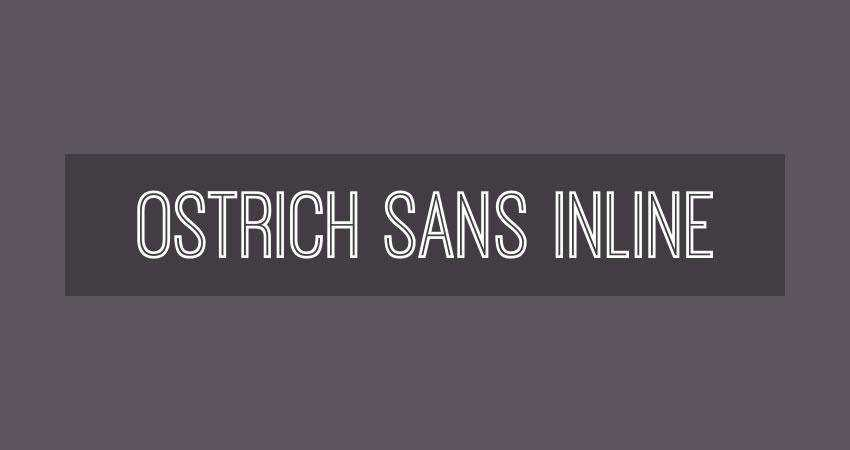 Ostrich Sans Inline - free outline font family