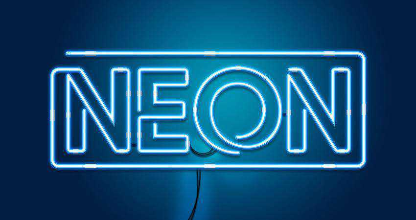 Neon - free outline font family