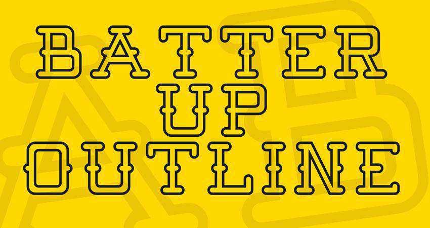 Batter Up - free outline font family