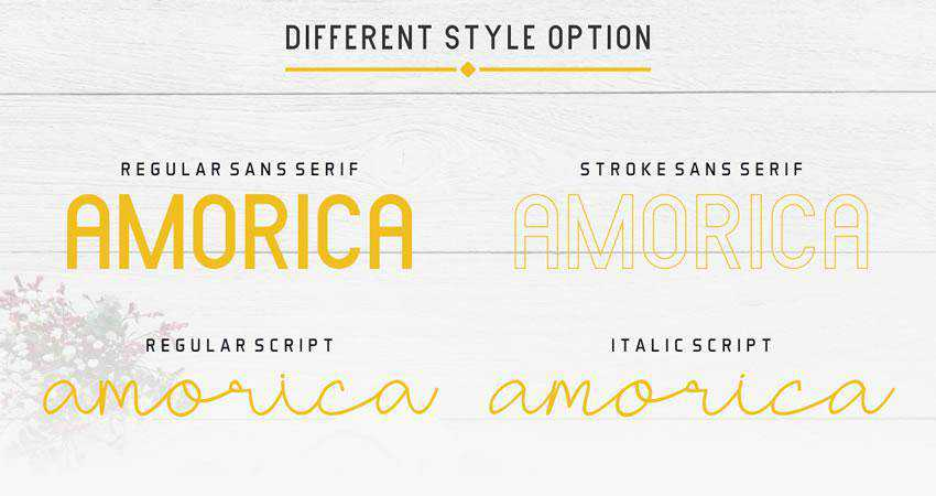 Amorica - free outline font family