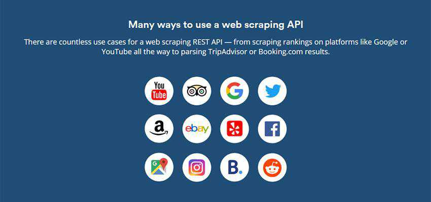 Examples of web scraping use cases.