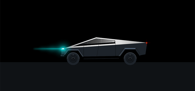 Example from Single div CSS Tesla Cybertruck
