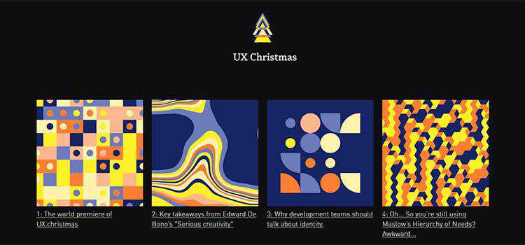 Example from UX Christmas