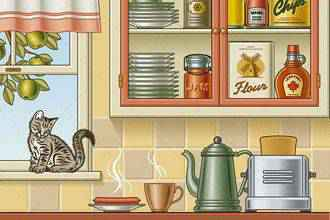 Retro Kitchen for Illustrator