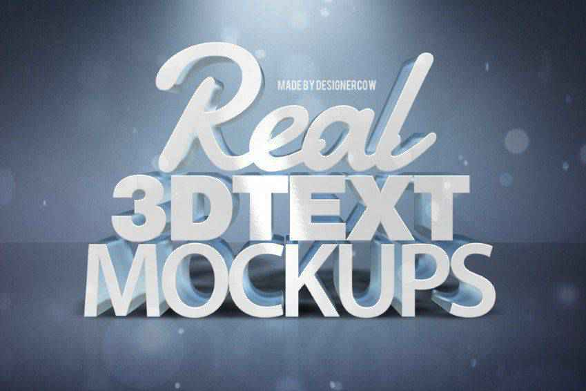 Real 3D Text Mockup Photoshop Actions