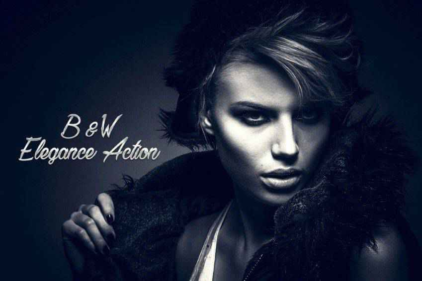 B&W Elegance Photoshop Action