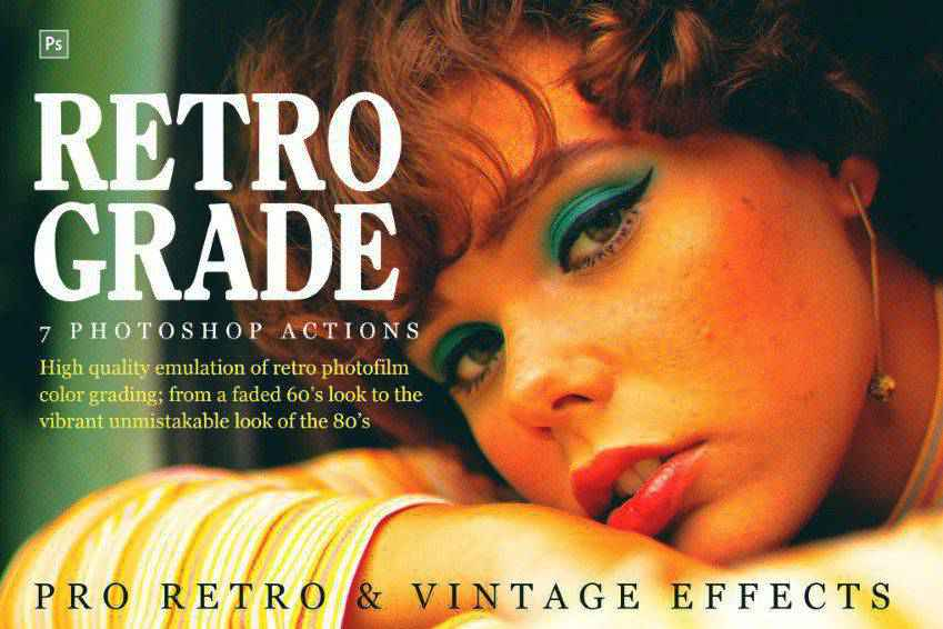 Retro and Vintage Photoshop Actions
